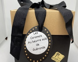 Coffret Caramels au beurre sale  de Guérande 300 g - 200456COFCARA300